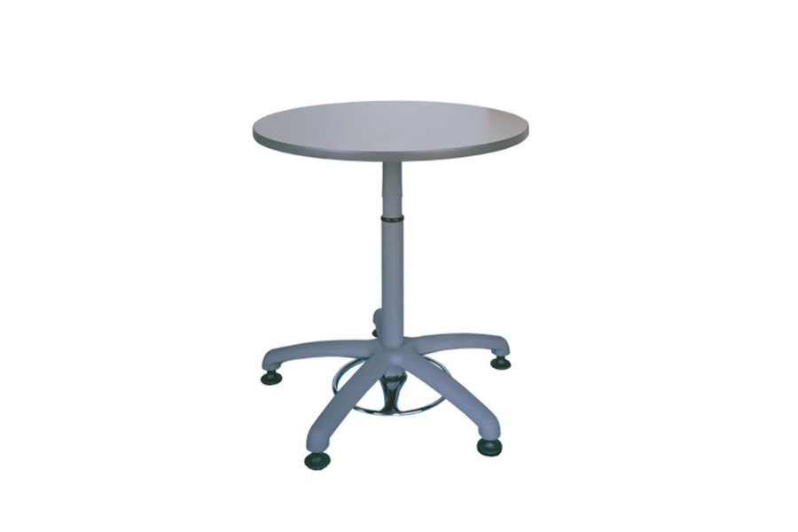 Height-adjustable pedestal table from LP Work Furniture Task